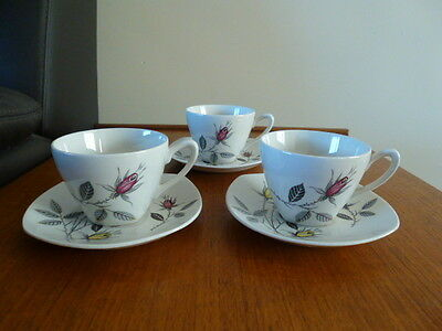 Midwinter Demi-Tasse Espresso Cup and Saucer x3 - Bali Hai design