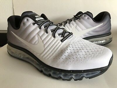 wholesale dealer c42c2 281e3 NIKE AIR MAX 2017 ID (918091-992) WHITE Black CLEAR WOLF GREY MENS Sz 15
