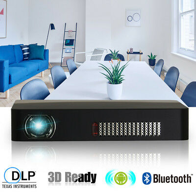 CAIWEI DLP 3D Home Cinema Projector Bluetooth Android Wifi Online Movie 1080p HD
