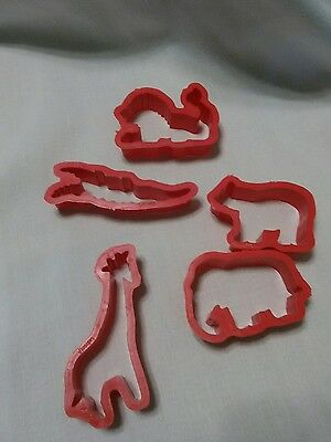Jello Jell-o Jiggler Aninal Molds Cutters Cookie Jigglers  lot of 5