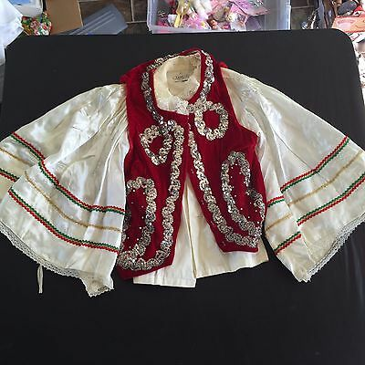 Vintage Campus Spanish Bull Fighting Matador Style Shirt With Sequin Vest Boys