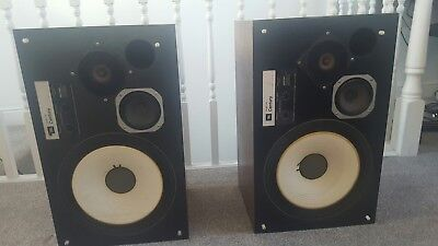 Vintage JBL L100 Century Bookshelf Monitor Speakers with grills