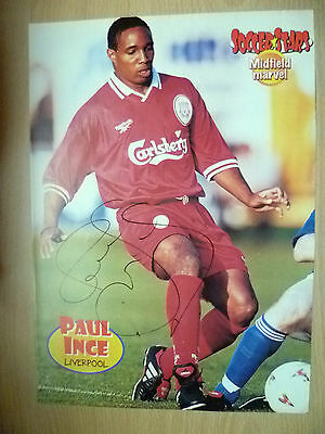 Original Hand Signed Press Cutting- PAUL INCE, Liverpool FC (apx. A4 ).