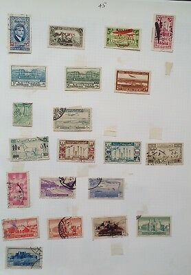 Early SYRIA stamps on 3 album pages lot46