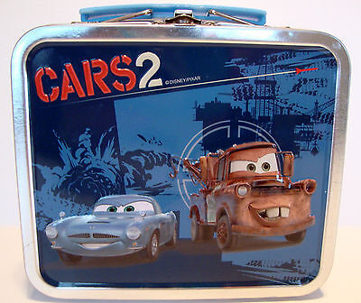 Cars2 Lunchbox Disney Pixar Cars 2 Tow Mater Finn McMissile Featured Front Back