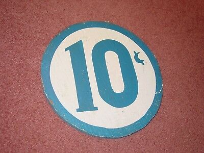 Vintage Carnival or Fair Game of Chance 10 Cent Sign