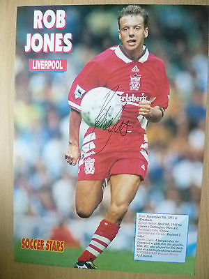 100% Genuine Hand Signed Press Cutting of Liverpool FC Player - ROB JONES