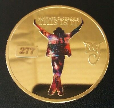 MICHAEL JACKSON Kind Of Pop* THIS IS IT* challenge coins FREE COIN STAND