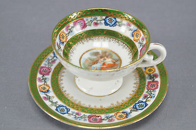 ES Prussia Royal Vienna Style Classical Scene Cabinet Cup & Saucer 1891 - 1900 B