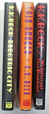 Lot of Three K.K. Beck mysteries, First Editions, unread, two signed