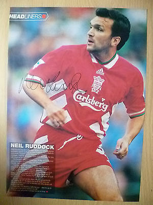 Original Hand Signed Press Cutting- NEIL RUDDOCK, Liverpool FC (apx. A4 )