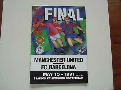 Manchester United v Barcelona Cup Final Football Programme 15 May 1991