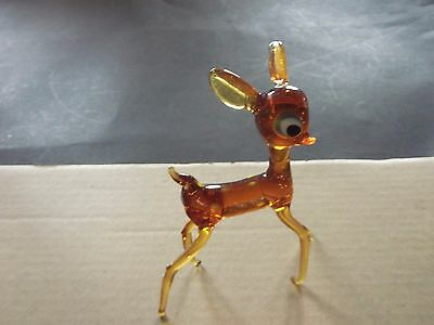 "Faon ""bambi"" Annees 60 Verre Souffle"