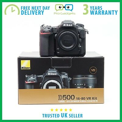 New Nikon D500 20.9MP Body Only Kit Box - 3 Year Warranty - Multiple Languages