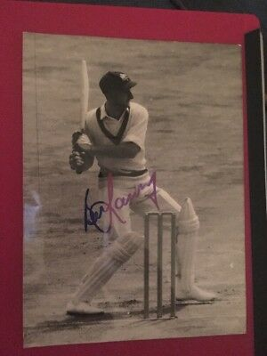 Bill Lawry Australia Cricket Handsigned 9x7 Inch Photograph