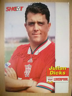 JULIAN DICKS at Liverpool FC (100% Genuine Hand Signed Press Cutting)