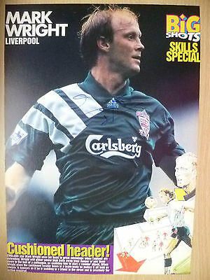100% Genuine Hand Signed Press Cutting of Liverpool FC Player - MARK WRIGHT