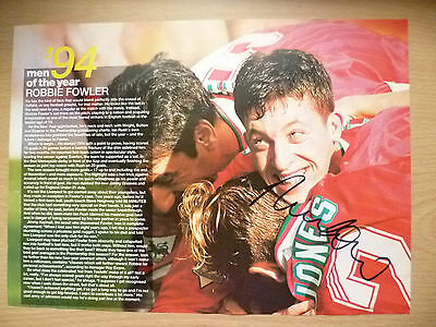 ROBBIE FOWLER at Liverpool FC (100% Genuine Hand Signed Press Cutting)