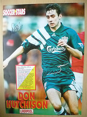 Original Hand Signed Press Cutting- DON HUTCHISON, Liverpool FC (apx. A4 )