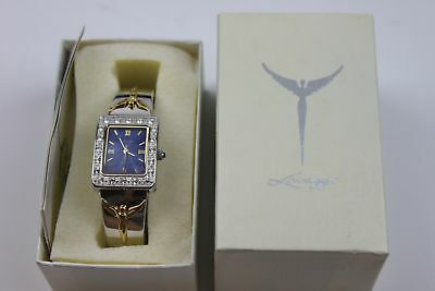 Angels of Reconciiation Two-tone Bangle Watch by Steven Lavaggi QVC New Battery
