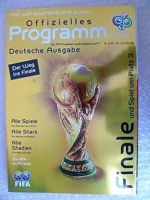 2006 FIFA World Cup FINAL & 3rd Place Official programme-Deutsche/German Edition