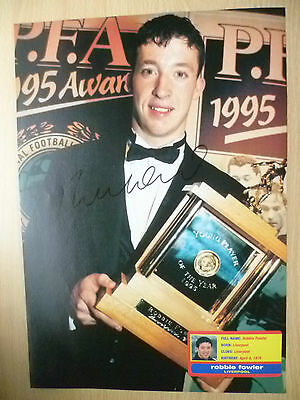 Original Signed Press Cutting- ROBBIE FOWLER at Liverpool FC (apx. A4)