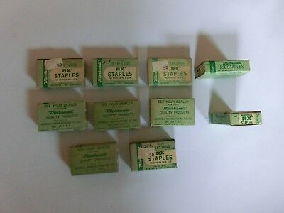 "Antique Vintage Markwell Rx Staples 3/16"" - 10 Boxes"