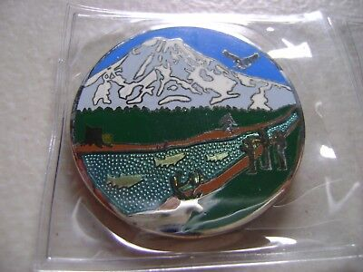 Geocoin  Mountain and River 10 years Geocaching   New with activation code
