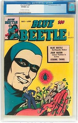 Blue Beetle #41 (Fox Features Syndicate, 1946) CGC VF/NM 9.0 Off-white to white