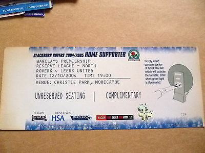 Ticket- 2004 ROVERS v LEEDS UNITED, Barclays Premiership, 12 Oct