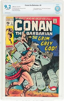 Conan the Barbarian #3 (Marvel, 1971) CBCS NM- 9.2 Off-white pages....