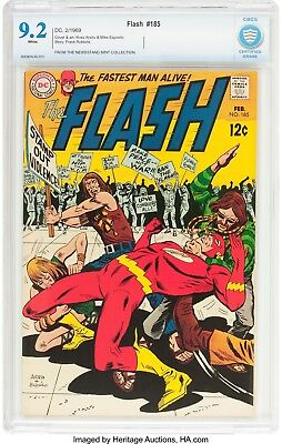 The Flash #185 (DC, 1969) CBCS NM- 9.2 White pages....