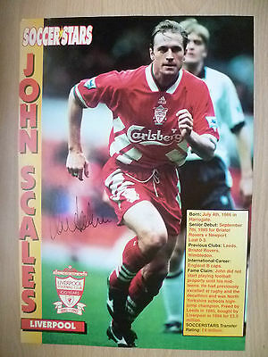 Original Hand Signed Press Cutting- JOHN SCALES, Liverpool FC (apx. A4)
