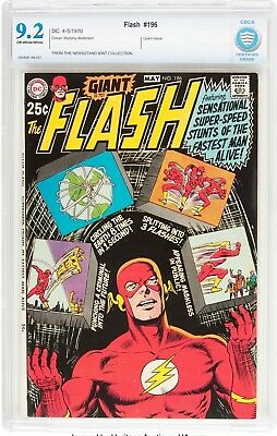 The Flash #196 (DC, 1970) CBCS NM- 9.2 Off-white to white pages....