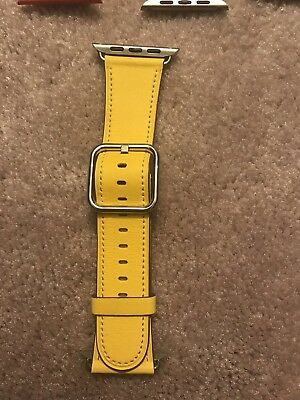 Genuine Apple Leather Watch Band. 42mm.  Sunflower