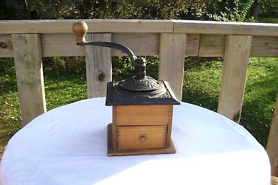 Vintage Cast Iron Coffee Grinder With Dove Tail Construction Original