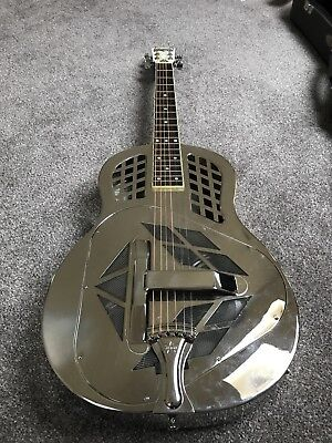 Amistar tricone resophonic resonator guitar with highlander magnophonic pickup