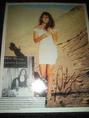 Mariah carey signed picture