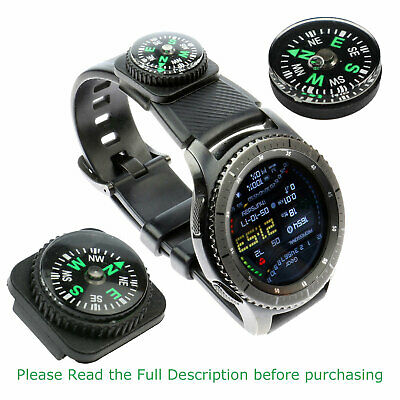Mini Oil Filled Button Compass - Military Survival Bushcraft Zip Watch Strap
