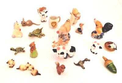 Lot Of 20 Vintage Animal Figurines Miniature Collectibles Ceramic and Plastic
