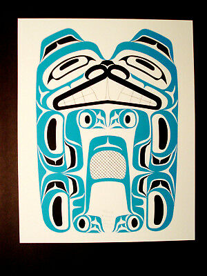 Northwest Coast Native Art Haida Beaver  Ltd Edition  Print Signed