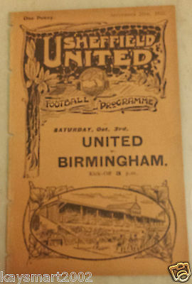 1925/26 Central League: SHEFFIELD UNITED RES. v BURY RESERVES - 26th September