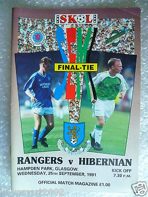1991 Skol Cup Final - RANGERS v HIBERNIAN, 25th Sept