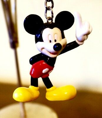 Mickey Mouse; Plastic Keychain; Approx. 2.5 inches