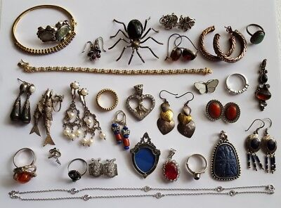 sterling silver scrap lot ring earrings necklace etc 209 grams scrap or resell