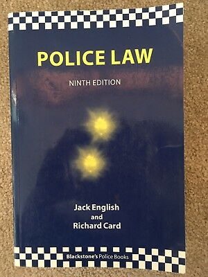 Police Law by Richard Card, Jack English (Paperback, 2005)