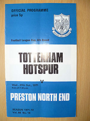 Football League CUP 4th Round 1971- TOTTENHAM HOTSPUR v PRESTON NORTH END,27 Oct