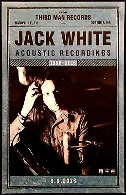 LITHOGRAPHED Promotional Poster JACK WHITE Stripes ACOUSTIC Recordings THIRD MAN