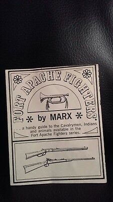 Vintage Johnny West Fort Apache Fighters Membership Club Sheet Marx