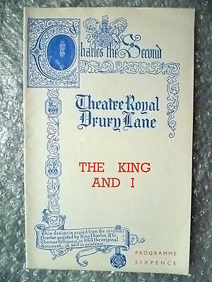 Theatre Royal Programme- THE KING AND I music by Richard Rodgers